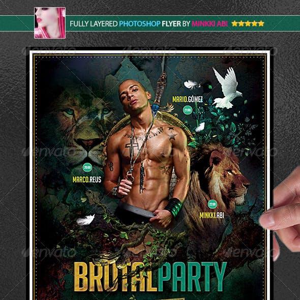 Brutal Party Poster/Flyer