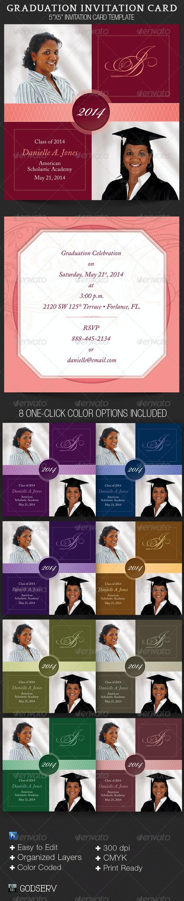 Graduation Invitation Card Template - Invitations Cards & Invites