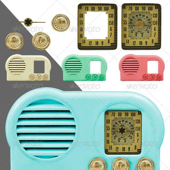 Antique Bakelite Radio Parts