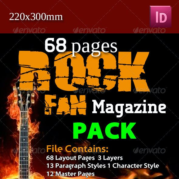 68 Pages Rock Fan Magazine Pack