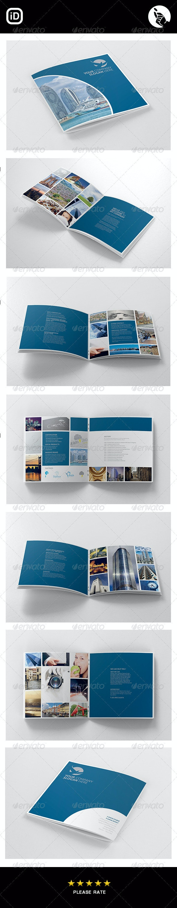 Corporate Square 12 Page Brochure - Corporate Brochures