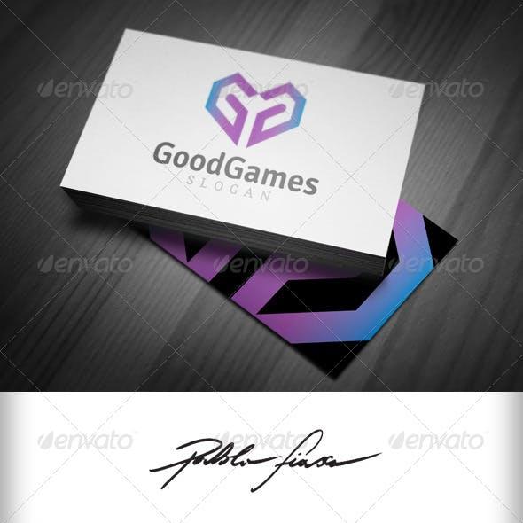 Letter G - Heart Shape Gaming & Gamer Logo