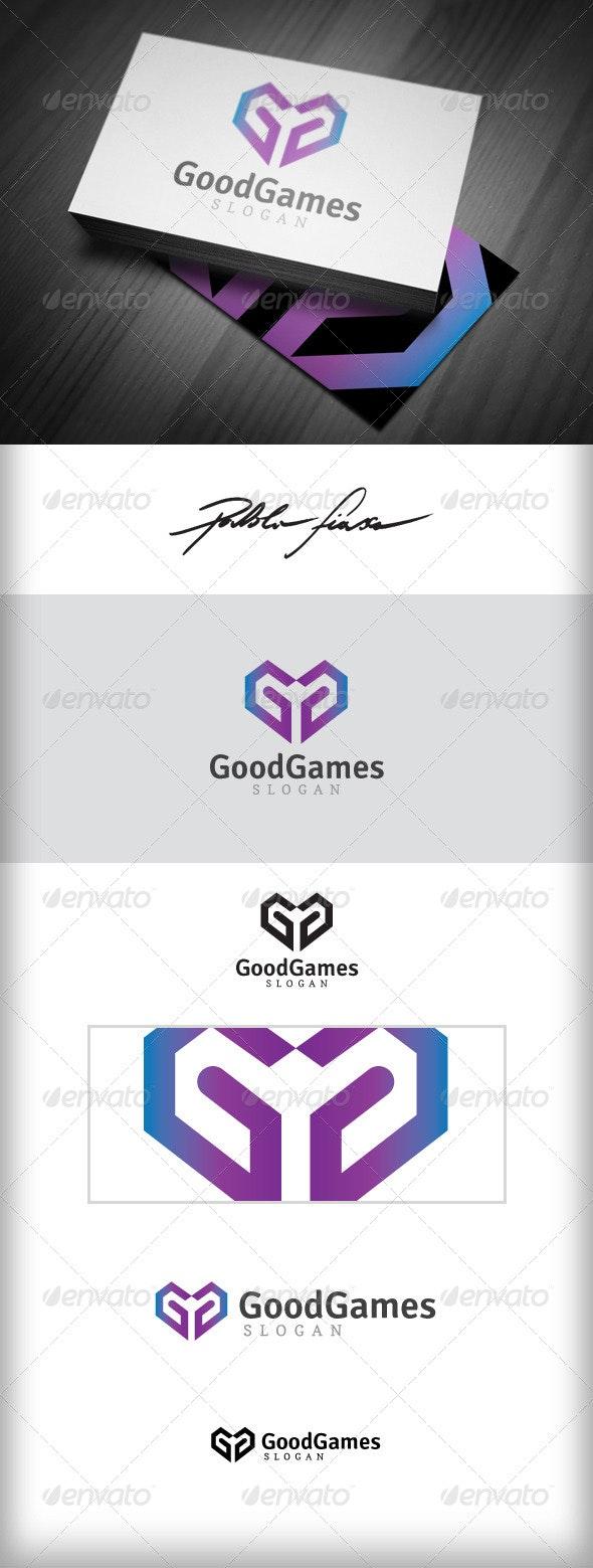 Letter G - Heart Shape Gaming & Gamer Logo - Letters Logo Templates