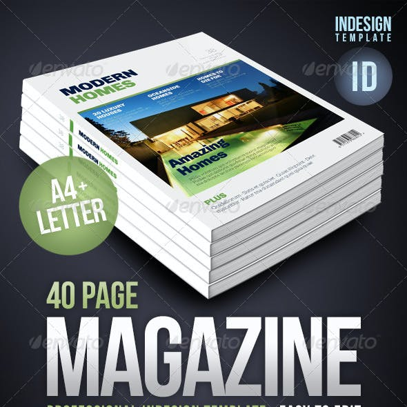 Multipurpose 40 Page Magazine - A4 + Letter