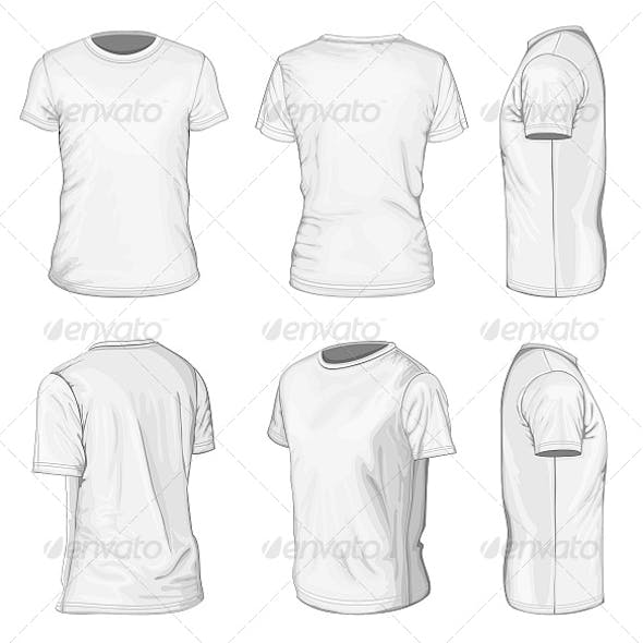 Men's White Short Sleeve T-Shirt