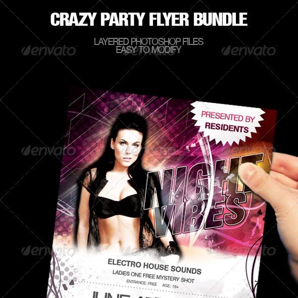 Crazy Party Flyer Bundle