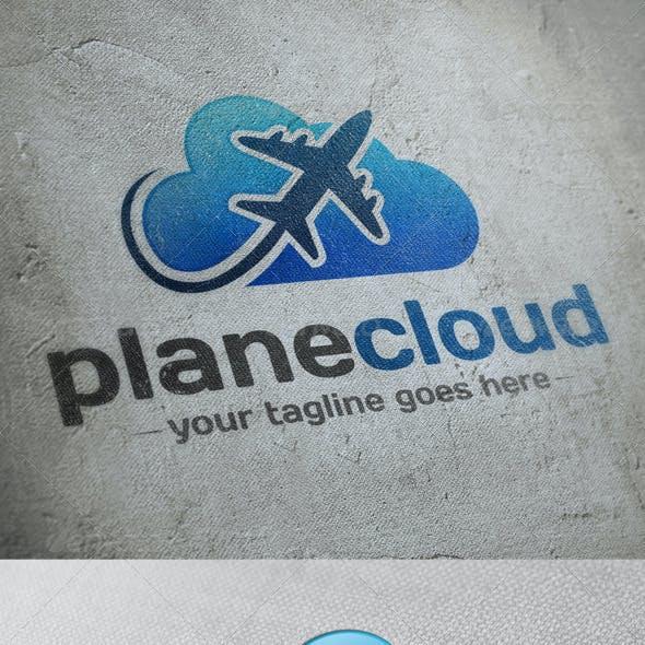 Plane Cloud Logo Template