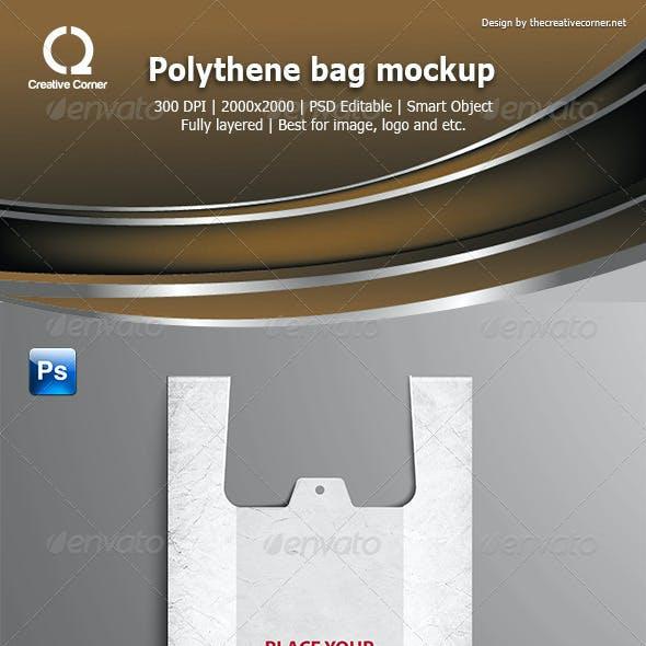 Polythene bag mockup