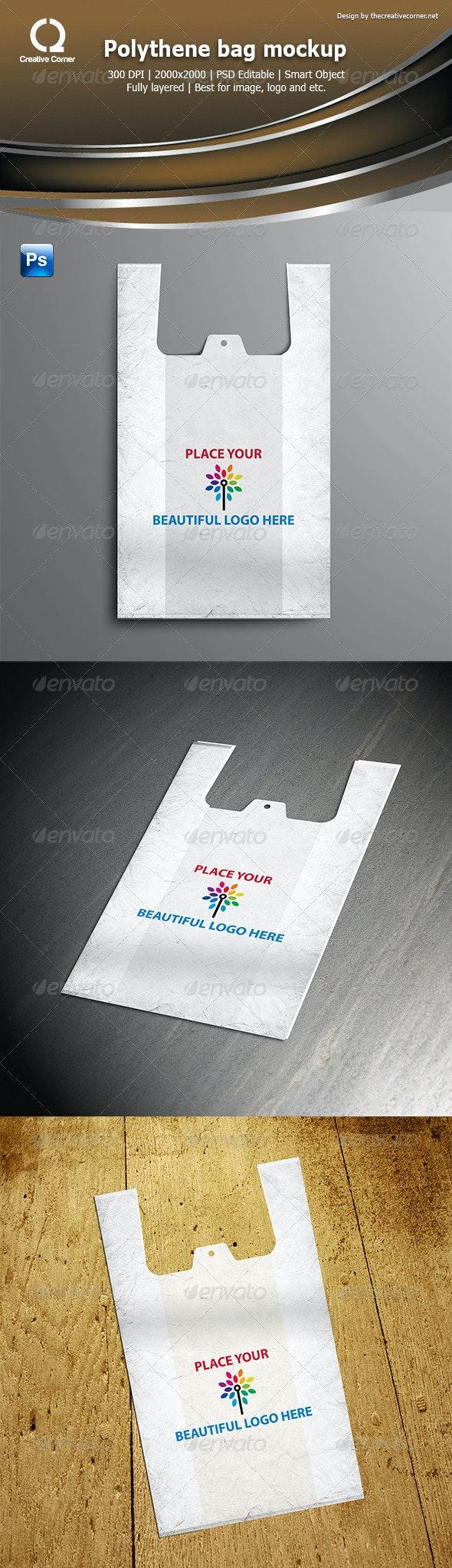 Polythene bag mockup - Product Mock-Ups Graphics