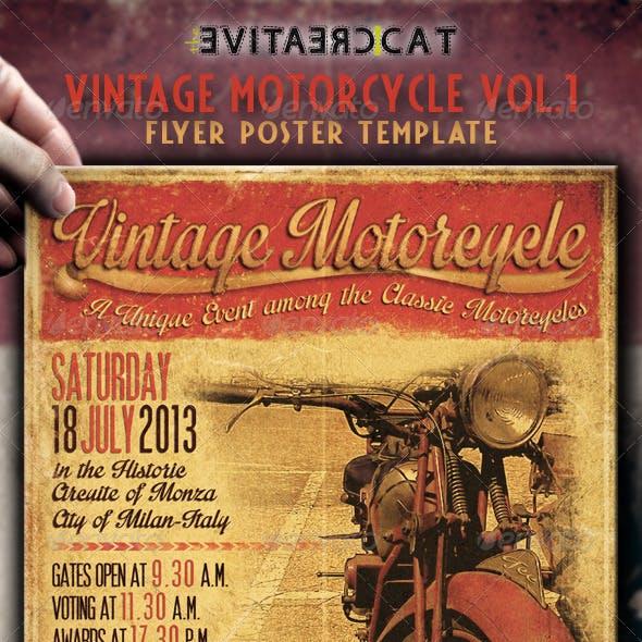 Vintage Motorcycle Flyer/Poster Vol.1