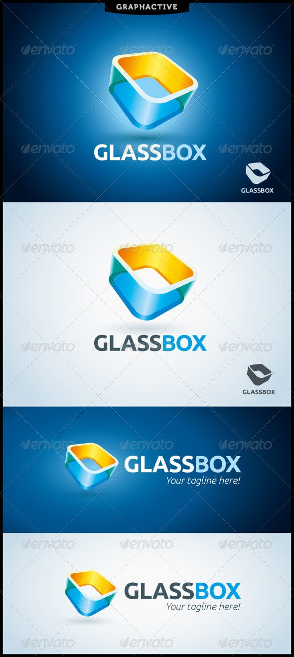 GlassBox Logo Template - Abstract Logo Templates