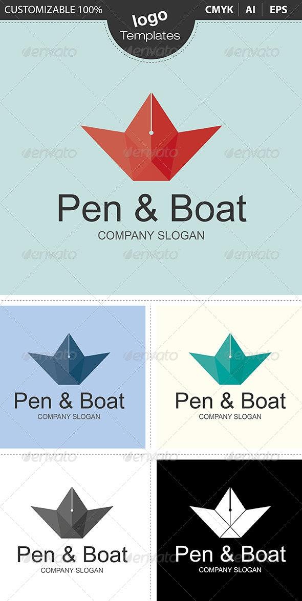 Pen & Boat - Objects Logo Templates