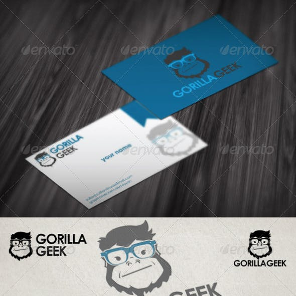 Gorilla Geek Logo Tempate