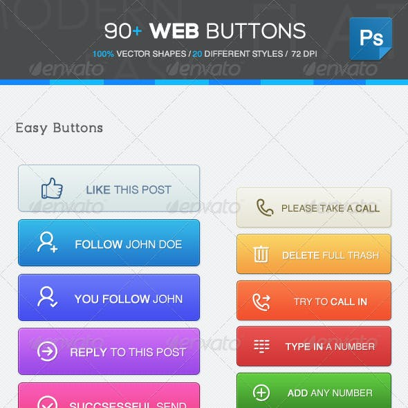 90+ Web Buttons