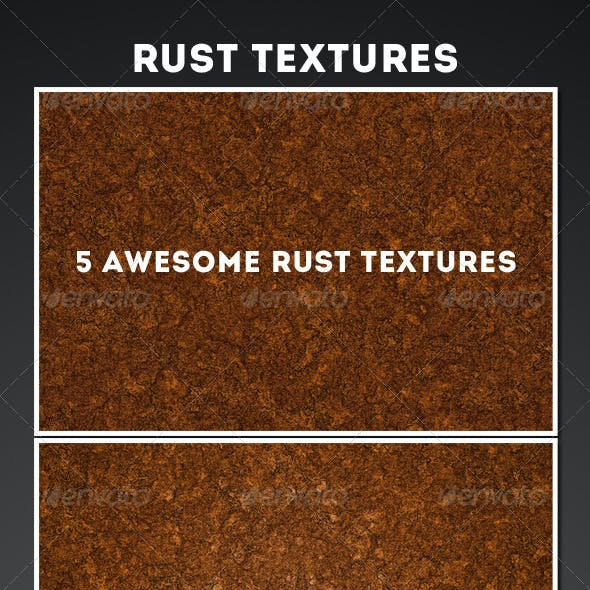 5 Rust Texture + Action pack