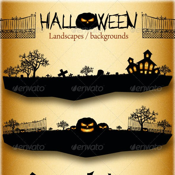 Halloween Landscapes / Backgrounds