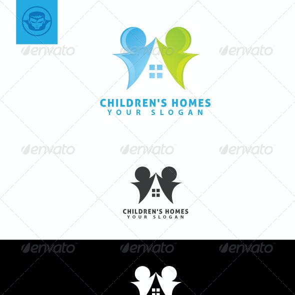 Children Homes Logo Template