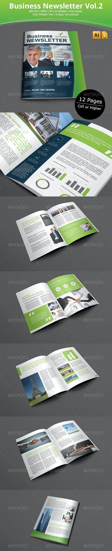 Business Newsletter vol.2 - Newsletters Print Templates
