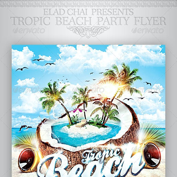 Tropic Beach Summer Party Flyer Template