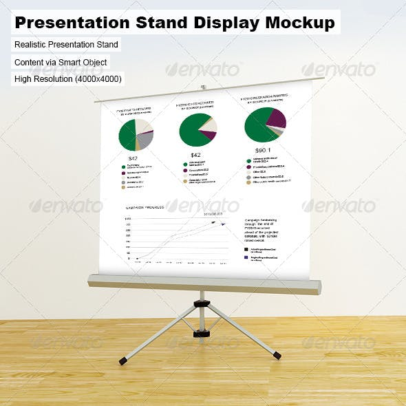 Presentation Stand Display Mock-Up