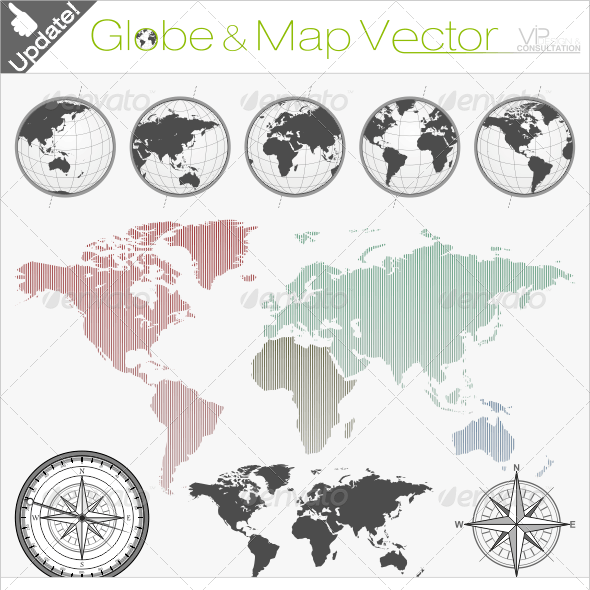 Globe & World Map