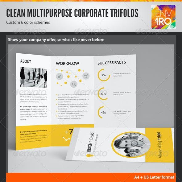Clean Minimal Multipurpose Trifolds Vol. 1