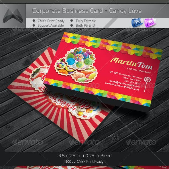 Sweet Candy Love Business Card