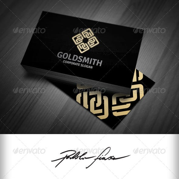 Golden Chain - Abstract Infinity Interlocking Logo