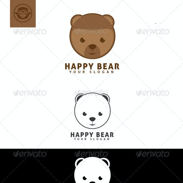Happy Bear Logo Template