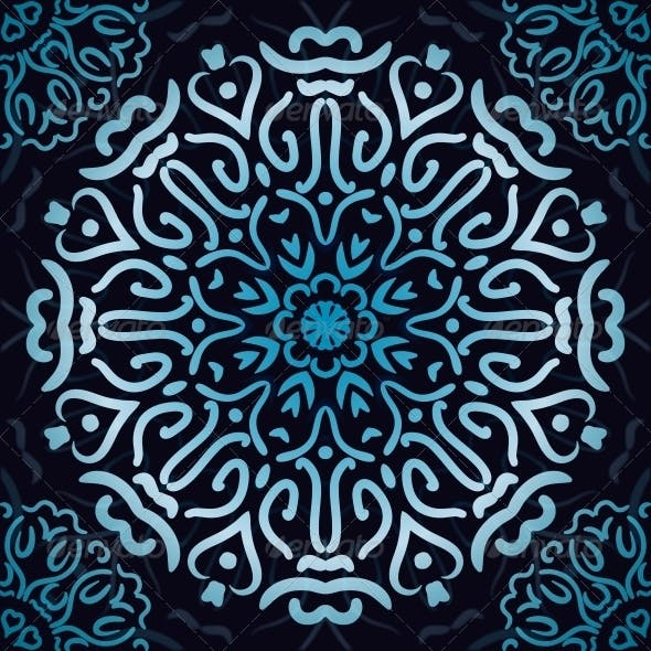 Luxury Ornamental Abstract Wallpaper.