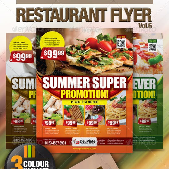 Restaurant Flyer Vol.6