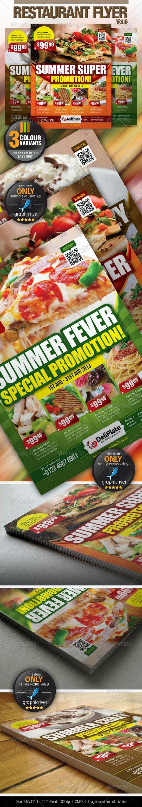 Restaurant Flyer Vol.6 - Restaurant Flyers