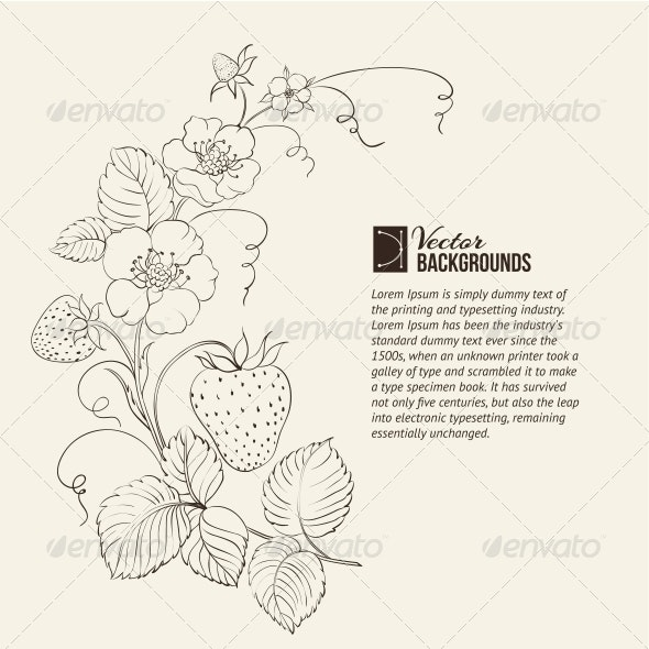 Strawberries Isolated. - Flowers & Plants Nature