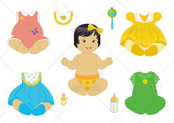Asian baby-girl - People Characters