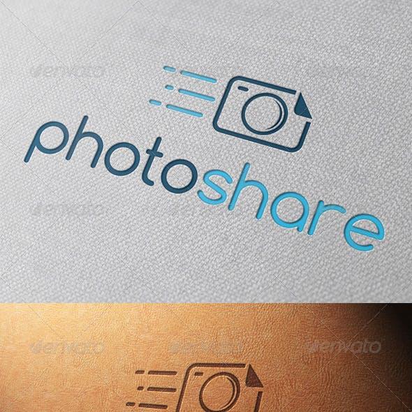 Photo Share Logo Template