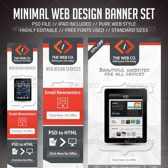 Minimal Web Design AD Banner Set