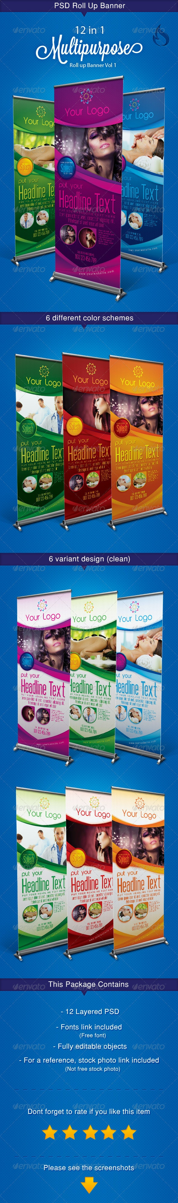 Multipurpose roll up banner Vol 1 - Signage Print Templates