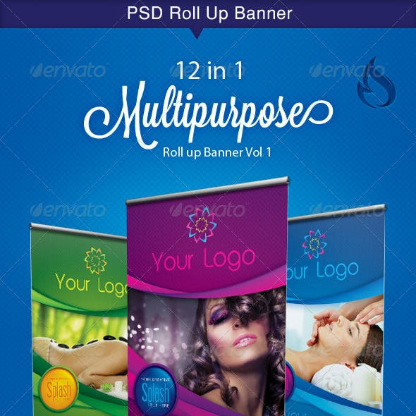 Multipurpose roll up banner Vol 1