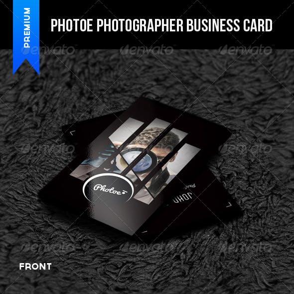 Photoe Photographer Business Card