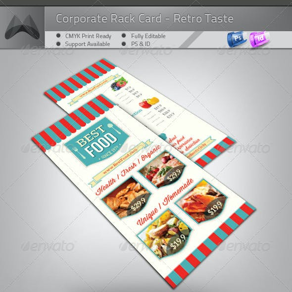 Retro Taste Food/Restaurant Rack Card