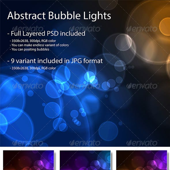 WEB2.0 Abstract Bubble Lights Background Pack