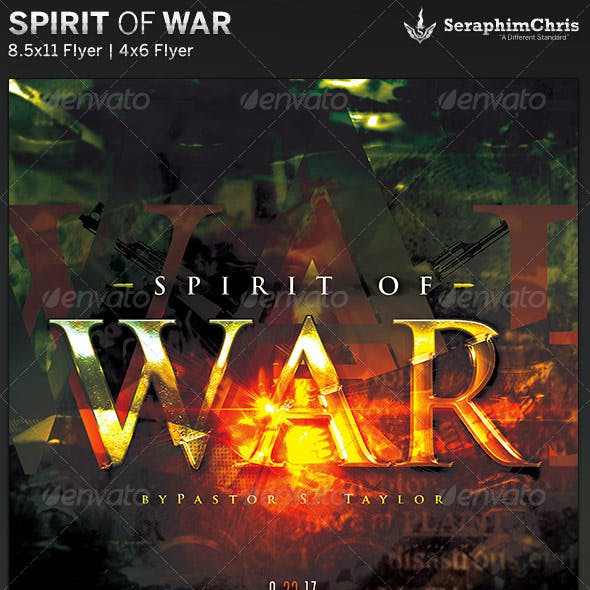 Spirit of War: Church Flyer Template