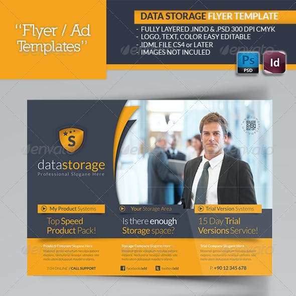 Data Storage Flyer Template