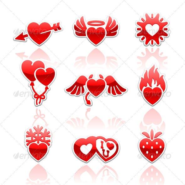 Set Icons of Valentine's Day