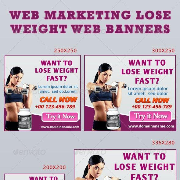 Web Marketing Lose Weight Web Banners
