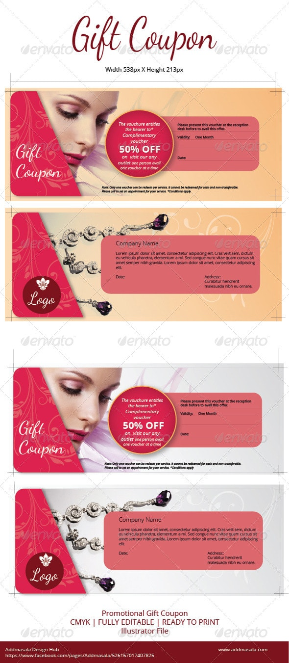 Gift Coupon - Cards & Invites Print Templates