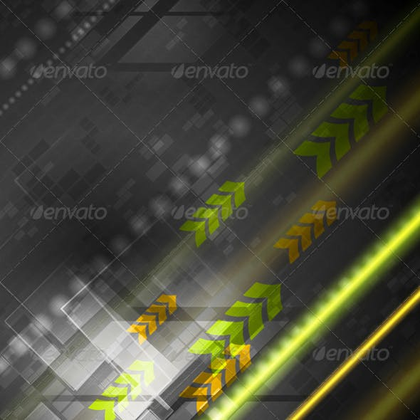 Bright Hi-Tech Vector Background
