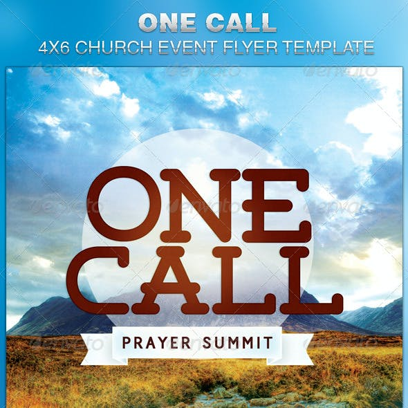 One Call Church Flyer Template