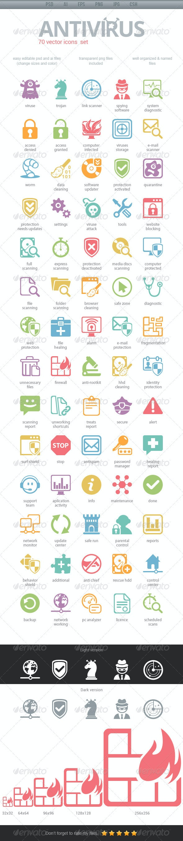 Antivirus Icons - Icons