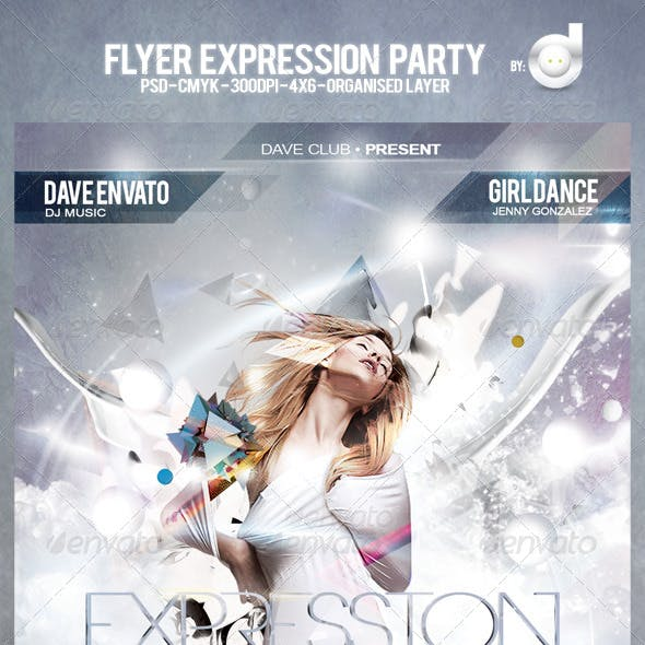 Flyer Expression Party